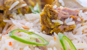 Kabsa Rice V. Traditional Arab Middle East dish Kabsa Rice with lamb Royalty Free Stock Photos
