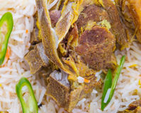 Kabsa Rice VII. Traditional Arab Middle East dish Kabsa Rice with lamb Stock Image