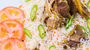 Kabsa Rice VIII. Traditional Arab Middle East dish Kabsa Rice with lamb Royalty Free Stock Images