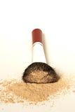 Kabuki Brush, Mineral Make-up. Kabuki brush with loose powder Royalty Free Stock Photos