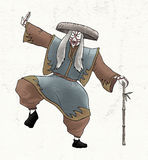Kabuki character draw Royalty Free Stock Photos