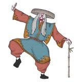 Kabuki character illustration Stock Image