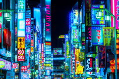 Kabuki-Cho område, Shinjuku, Tokyo, Japan Arkivfoto