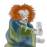 Kabuki mask illustration Royalty Free Stock Photos