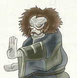Kabuki mask illustration Stock Photo