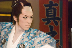 Kabuki performer royalty free stock photography