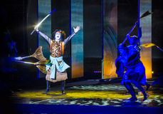 Kabuki spectacle at the Fountains of Bellagio Stock Photography