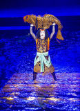 Kabuki spectacle at the Fountains of Bellagio Stock Images