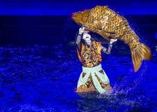 Kabuki spectacle at the Fountains of Bellagio Stock Photos