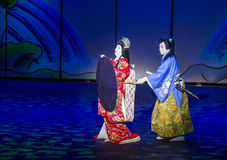 Kabuki spectacle at the Fountains of Bellagio Royalty Free Stock Photo