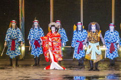 Kabuki spectacle at the Fountains of Bellagio Royalty Free Stock Photos