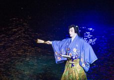 Kabuki spectacle at the Fountains of Bellagio Royalty Free Stock Image