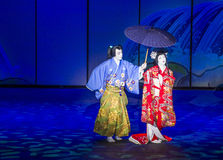Kabuki spectacle at the Fountains of Bellagio Stock Photo