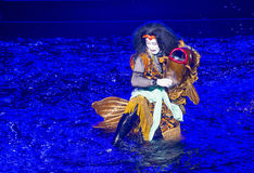 Kabuki spectacle at the Fountains of Bellagio Stock Image