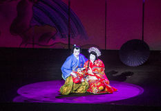 Kabuki spectacle at the Fountains of Bellagio Royalty Free Stock Photography