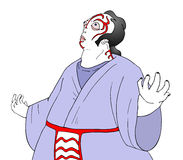 Kabuki theater character Royalty Free Stock Image