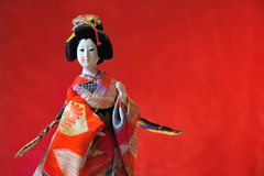 Kabuki theatre Japanese doll Royalty Free Stock Photo