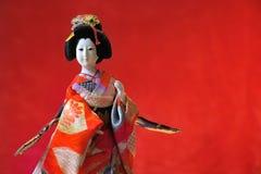 Kabuki theatre Japanese doll Royalty Free Stock Photo