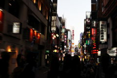 Kabukichō. It is an entertainment and red-light district in Shinjuku, Tokyo, Japan. Kabukichō is the location of many host and hostess clubs, love hotels Royalty Free Stock Photography