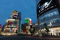 Kabukicho at East Shinjuku, Tokyo, Japan. Kabukicho, Tokyo, Japan - June 2, 2015: Night scene at cross section in Kabukicho, Tokyo. It is a famous red-light royalty free stock photo