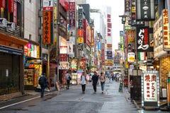 Kabukicho is eigenschappen van het het rode lichtdistrict van Japan de grootste, bars, Royalty-vrije Stock Foto's