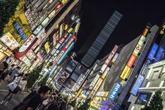 Kabukicho Lights, Tokyo, Japan. Kabukicho is an entertainment and red-light district in Shinjuku, Tokyo, Japan royalty free stock images