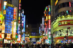 Kabukicho , shinjuku, japan. Red Light District (Kabukicho) in East Shinjuku district of Japan's capital city - Tokyo. Neon lighting of the main street while stock photography