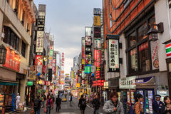 Kabukicho , shinjuku, tokyo. Kabukicho is an historic entertainment and red light district in East Shinjuku district of Japans capital city - Tokyo. Photo taken stock image