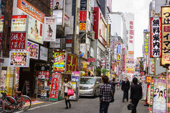 Kabukicho , shinjuku, tokyo. Kabukicho is an historic entertainment and red light district in East Shinjuku district of Japans capital city - Tokyo. Photo taken stock photography
