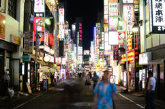 Kabukicho in Tokyo, Japan. Kabukicho is an historic entertainment and red light district in Tokyo, Japan, beaming with with neon signs royalty free stock images