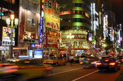 Kabukicho in Tokyo, Japan. Kabukicho is the historic red light district of Tokyo and is known for the myriad of lit signs in Tokyo, Japan royalty free stock image