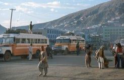 Kabul bussar posterar royaltyfri foto