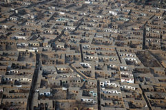 Kabul houses. Detail over the city stock photos