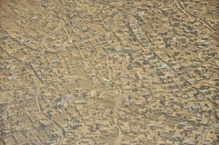 Kabul hus och flyg- sikt för damm Arkivfoto