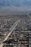 Kabul road. Afghan capital view from the air stock image