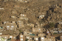 Kabul Slum. A slum in Kabul, Afghanistan royalty free stock photography