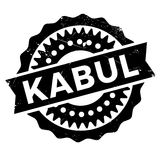 Kabul stamp rubber grunge Stock Photos
