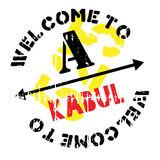 Kabul stamp rubber grunge Royalty Free Stock Photography