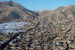 Kabul von der Luft Stockfotografie
