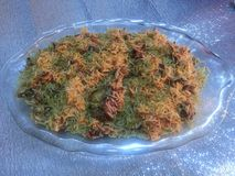 Special cooked rice dish. Kabuli Pulao  A close up: Special cooked rice dish Stock Photo