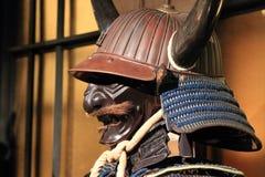 Samurai armor. Kabuto and mempo stock photography
