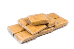 Kacang tumbuk或被捣碎的花生矿块,一顿普遍的快餐在东南亚 免版税库存图片