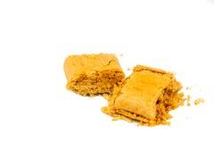 Kacang tumbuk或被捣碎的花生矿块,一顿普遍的快餐在东南亚 库存照片