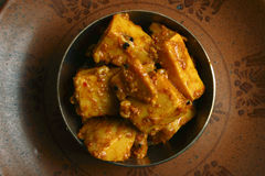 Kachalu Pickle - A popular spicy Indian Pickle Stock Photo