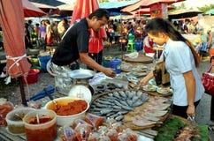 Kachanaburi, Thailand: Openlucht Markt Stock Afbeelding