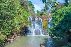 Kachanh siklawy podróży miejsce przeznaczenia w Banlung, Ratanakiri, Kambodża zdjęcie royalty free