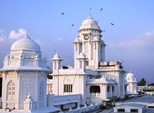 Kacheguda railway station in Hyderabad. Kacheguda railway station towers with clock in the evening in Hyderabad, Andhra Pradesh, India Stock Image