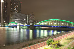 kachidoki моста стоковая фотография rf