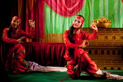 Kachin Folk Dance Stock Images