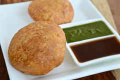 Kachori stockbild